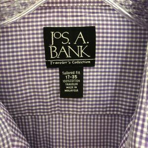 Jos. A. Bank Shirts - Men's Jos A Bank Traveler Button Down Purple